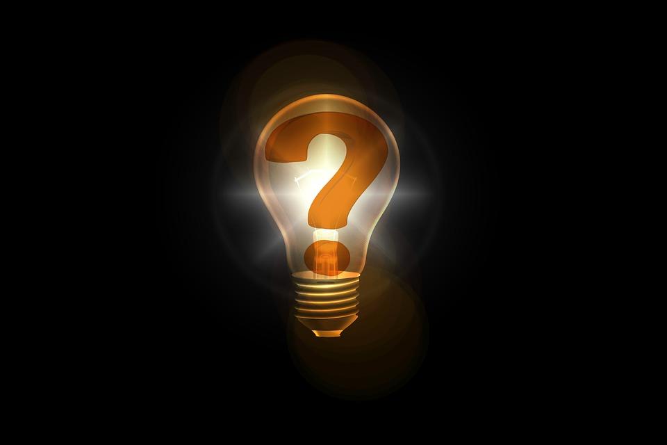 žiarovka, otáznik